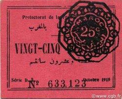 25 Centimes MAROC  1919 P.04a SPL
