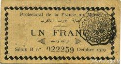 1 Franc MAROC  1919 P.06a pr.TTB