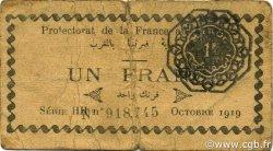 1 Franc MAROC  1919 P.06a TB