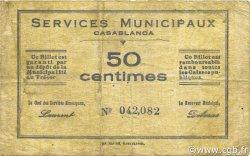 50 Centimes MAROC Casablanca 1919 P.-- TB+