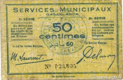 50 Centimes MAROC Casablanca 1919 P.-- TB