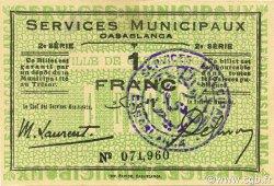 1 Franc MAROC Casablanca 1919 P.-- SPL