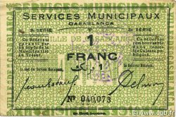 1 Franc MAROC Casablanca 1919 P.-- TTB+