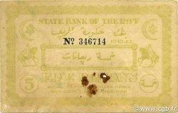 5 Riffans MAROC  1923 P.R2 TTB