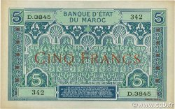 5 Francs 1924 MAROC  1924 P.09 SUP