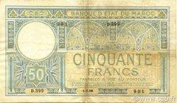 50 Francs MAROC  1928 P.13 TTB