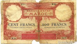 100 Francs 1920 MAROC  1921 P.14 AB