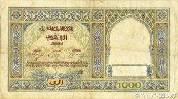 1000 Francs type 1921 MAROC  1939 P.16c TB+