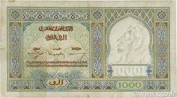 1000 Francs type 1921 MAROC  1945 P.16c TB