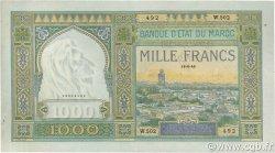 1000 Francs type 1921 MAROC  1946 P.16c pr.SUP