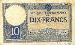 10 Francs 1920 modifié 1941 MAROC  1941 P.17b TTB