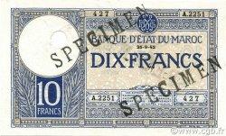 10 Francs 1920 modifié 1941 MAROC  1942 P.17s pr.NEUF