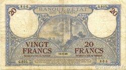 20 Francs MAROC  1929 P.18a TB à TTB
