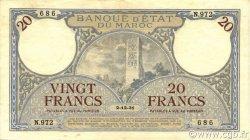 20 Francs 1920 2e type MAROC  1931 P.18a TTB+