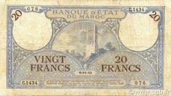 20 Francs MAROC  1942 P.18b B+
