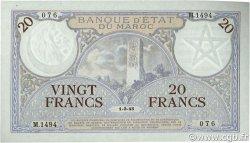 20 Francs 1920 modifié 1941 MAROC  1945 P.18b NEUF