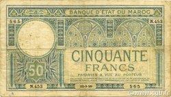 50 Francs 1920 modifié 1929 MAROC  1929 P.19 TB+