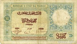50 Francs 1920 modifié 1929 MAROC  1932 P.19 B+
