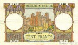 100 Francs MAROC  1932 P.20 TTB