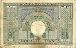 50 Francs type 1935 MAROC  1945 P.21 TB+