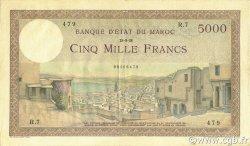 5000 Francs MAROC  1938 P.23a TTB+