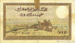 5000 Francs type 1937 MAROC  1945 P.23c TB