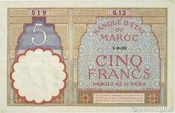 5 Francs MAROC  1922 P.23Aa TTB+