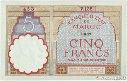 5 Francs type 1922 MAROC  1922 P.23Aa pr.NEUF