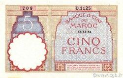 5 Francs type 1922 modifié 1941 MAROC  1941 P.23Ab pr.NEUF