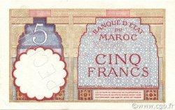5 Francs type 1922 modifié 1941 MAROC  1941 P.23As pr.NEUF