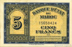 5 Francs type 1943 MAROC  1943 P.24a SPL+