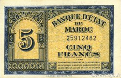 5 Francs MAROC  1944 P.24b SUP+