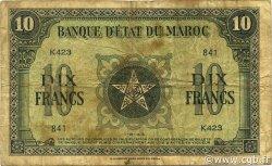 10 Francs type 1943 MAROC  1943 P.25 B+