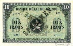 10 Francs type 1944 MAROC  1944 P.25s pr.NEUF