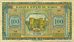 100 Francs type 1943 MAROC  1943 P.27 B+