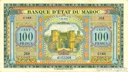 100 Francs MAROC  1943 P.27 SUP+