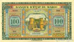100 Francs MAROC  1943 P.27 pr.SUP