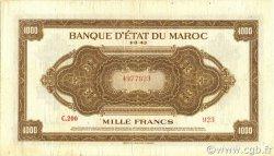 1000 Francs MAROC  1943 P.28 TB