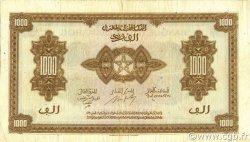 1000 Francs type 1943 MAROC  1943 P.28 TB