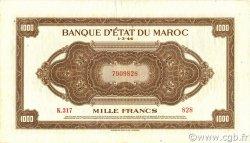 1000 Francs type 1944 MAROC  1944 P.28 TTB