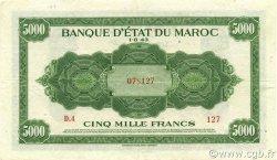 5000 Francs MAROC  1943 P.29 TTB+