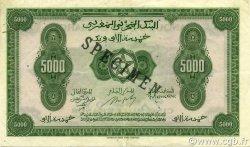5000 Francs MAROC  1943 P.29s SUP