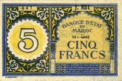 5 Francs type 1943 Casablanca MAROC  1943 P.33 SUP+