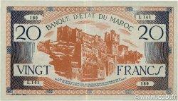 20 Francs type 1943 MAROC  1943 P.39 SUP