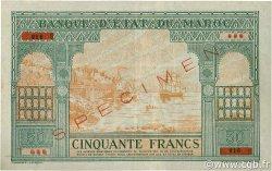 50 Francs type 1943 Casablanca. MAROC  1943 P.40s TTB+