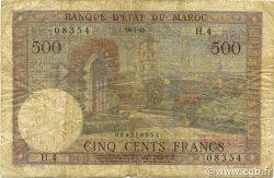 500 Francs type 1949 MAROC  1949 P.46 TB