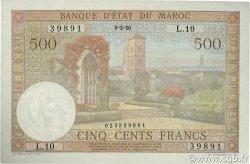 500 Francs type 1949 MAROC  1950 P.46 SPL+