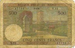 500 Francs MAROC  1956 P.46 B