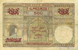 500 Francs type 1949 MAROC  1956 P.46 TB+