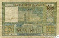 1000 Francs type 1951 MAROC  1952 P.47 B+